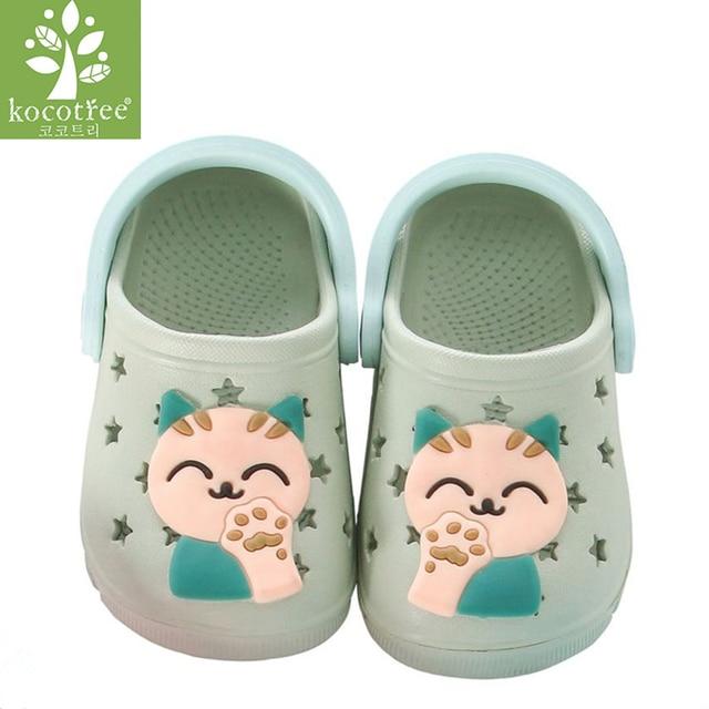 5d50505ea Kocotree Cat Baby Beach Slipper Children Sandals Wholeas EVA Anti-slip  Girls Boys Slippers Summer Garden Shoes Child Slipper