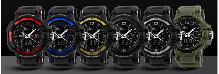 SKMEI 1040 Men LED Digital Quartz Military Watch