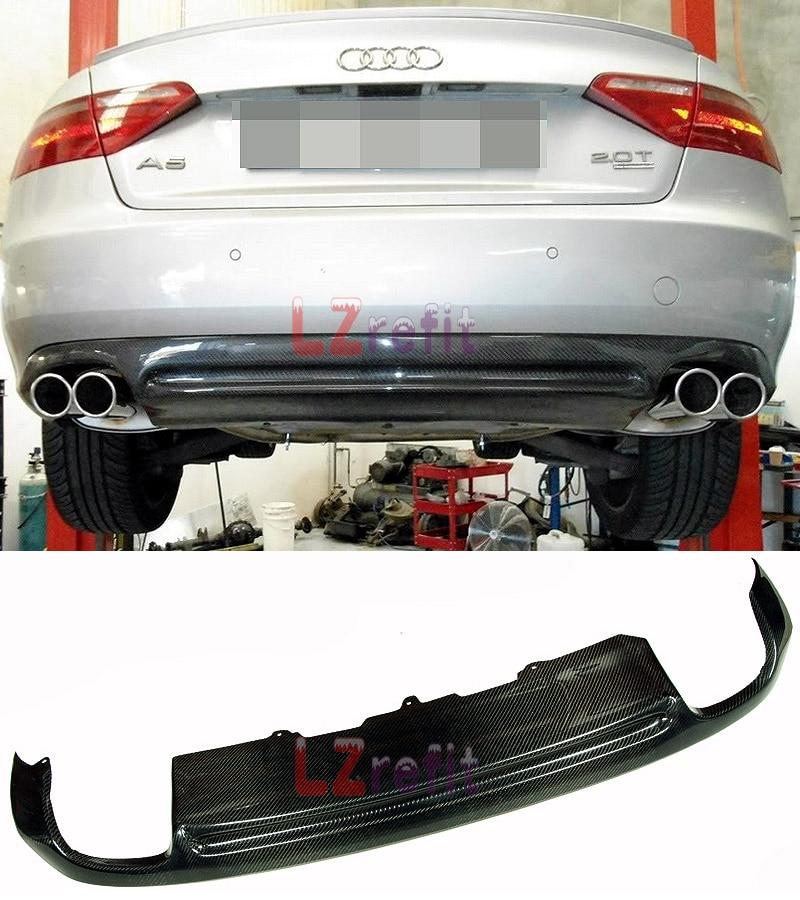 Real Carbon Fiber Rear Diffuser For Audi A5 Coupe Non Sline Non S5 Bumper 08 11