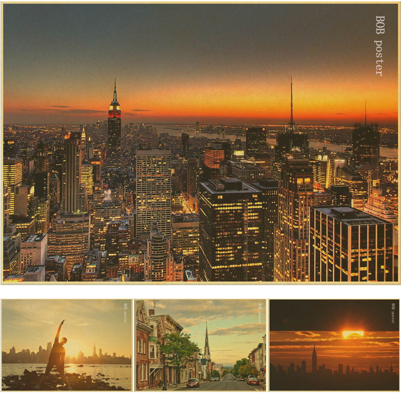 Aliexpress Com Buy 3 Pieces Wall Art New York City: Aliexpress.com : Buy The Beautiful Scenery Of Early