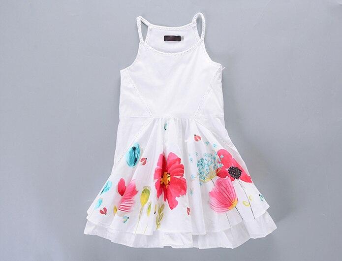 Marque filles robe 100% coton 5 ans robe blancheMarque filles robe 100% coton 5 ans robe blanche