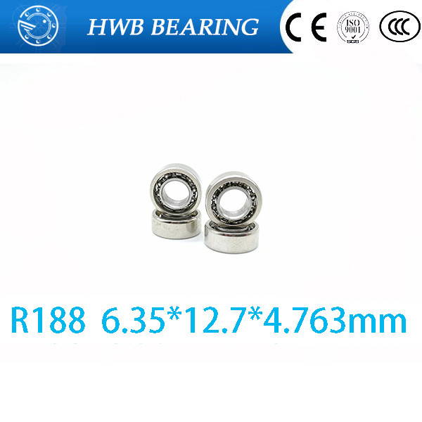 Free shipping 10 pcs R188 inch open bearings R188 (6.35 * 12.7 * 4.763MM) miniature ball bearings FOR YOYO HAND SPINNER  free shipping 10 pcs 684zz 684z 684 bearings 4x9x4 mm miniature ball bearings l 940zz abec5