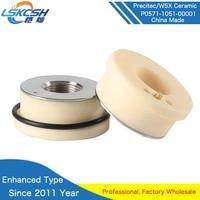 LSKCSH 3pcs enhanced type P0571 1051 00001 Precitec ceramic laser nozzle holder KT B2ins CON ceramic part Yellow color type