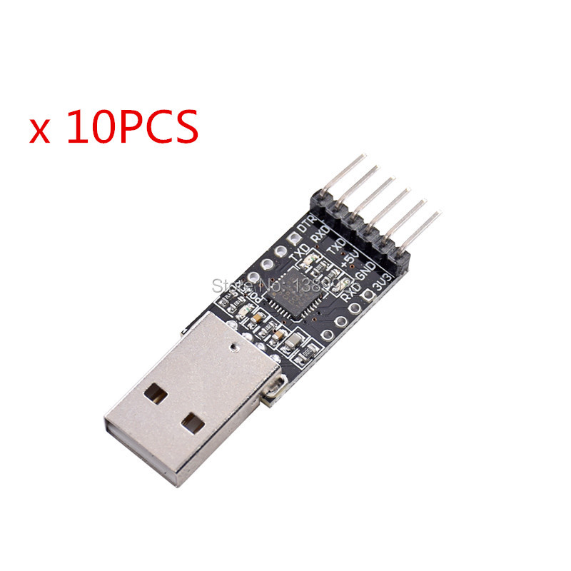 10PCS CP2102 USB 2.0 To TTL UART Module 6Pin Serial Converter STC Replace FT232
