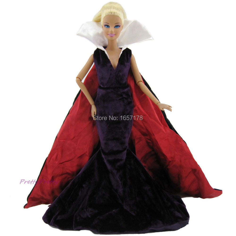 Free Shipping Genuine Ultimate Outfit Luxury Costume Wedding Party Gown Princess Dress Skirt Clothes For Barbie Doll Accessories princess skirt pet dog clothes tee costume