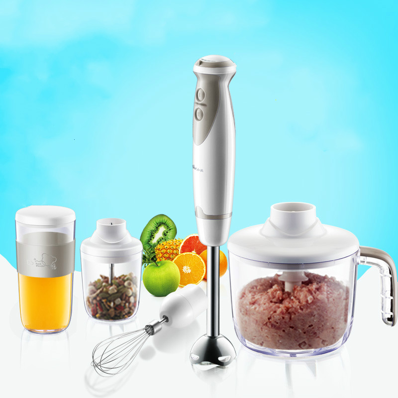 Bear Portable Multi 5pcs Meat Grinders Set 2gear Fruit Juicers Dry Grinding Food Mixers Egg Whisk Cutter Kitchen Appliances