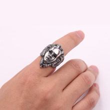 Greek Mythology Gorgon Monster Rings Men Horror Venomous Snakes Snake Hair Medusa Ring Punk Biker Accessories Jewelry(China)
