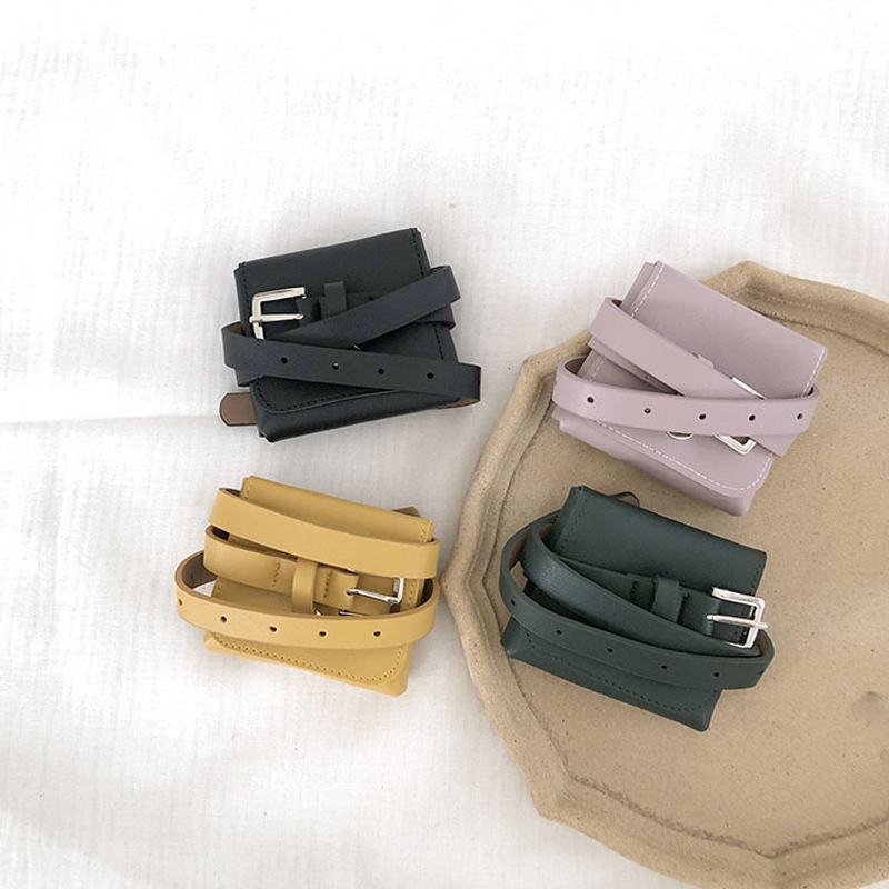 2019 New Kids Mini Waist Bag Leather Fanny Pack Girls Coin Purse Chest Bag Baby Boys Belt Bag Children Waist Packs