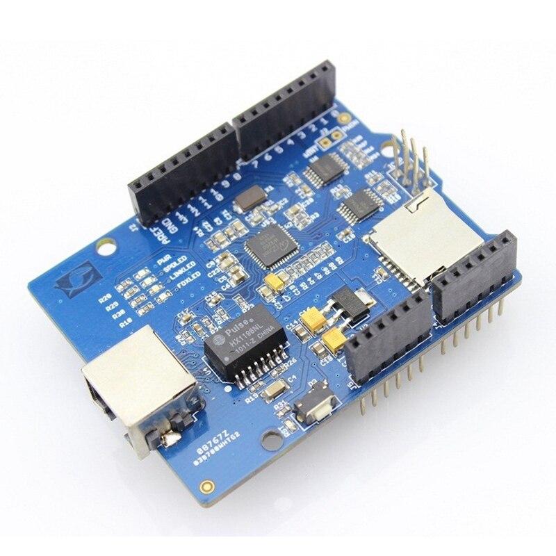 ethernetový štít w5200 - Elecrow Ethernet Shield W5200 for Arduino UNO R3 Mega 2560 R3 Internet Intelligent Home Furnishing DIY Kit