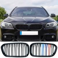 1 çift araba Styling siyah M 3 çift Slat araç ön ızgarası yarış ızgara BMW F20 LCI 1 serisi 114i 116i 118i 120i 125i P8