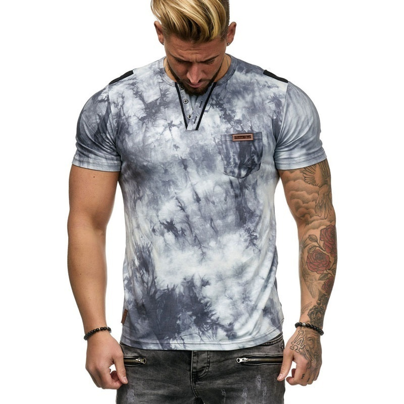 T     Shirt   Men 2019 Summer Fashion Short Sleeve Sports   T  -  Shirt   Brand Printed gradient Tee   Shirt   Male Streetwear Tshirt