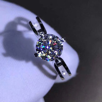 14K White Gold Ring 1ct 2ct 3ct Moissanite Diamond Ring jewelry Party Engagemen Anniversary Ring WIth GRA certificate