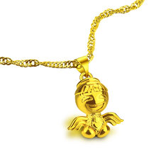 Fashion Angel Gold Heart Necklace 925 Silver Wholesale Golden Angel Pendant Women Clavicle Chain Elegant Charm Wedding Jewelry