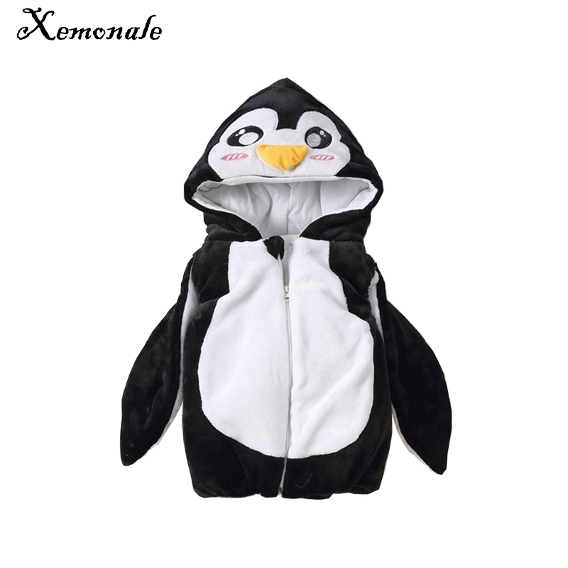 Xemonale Penguin Baby Halloween Costume Autumn,Winter Thick Cute Penguin Design+Penguin Foot Sock Childrens Suit Child Warm Vest