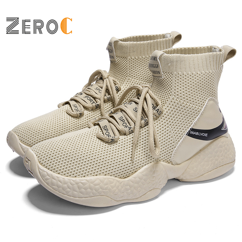 2019 Shark Sock Ankle Boots for Men Height Increasing Walking Shoes for Outdoor Trekking Sneakers Character Young Man Shoes in Walking Shoes from Sports Entertainment