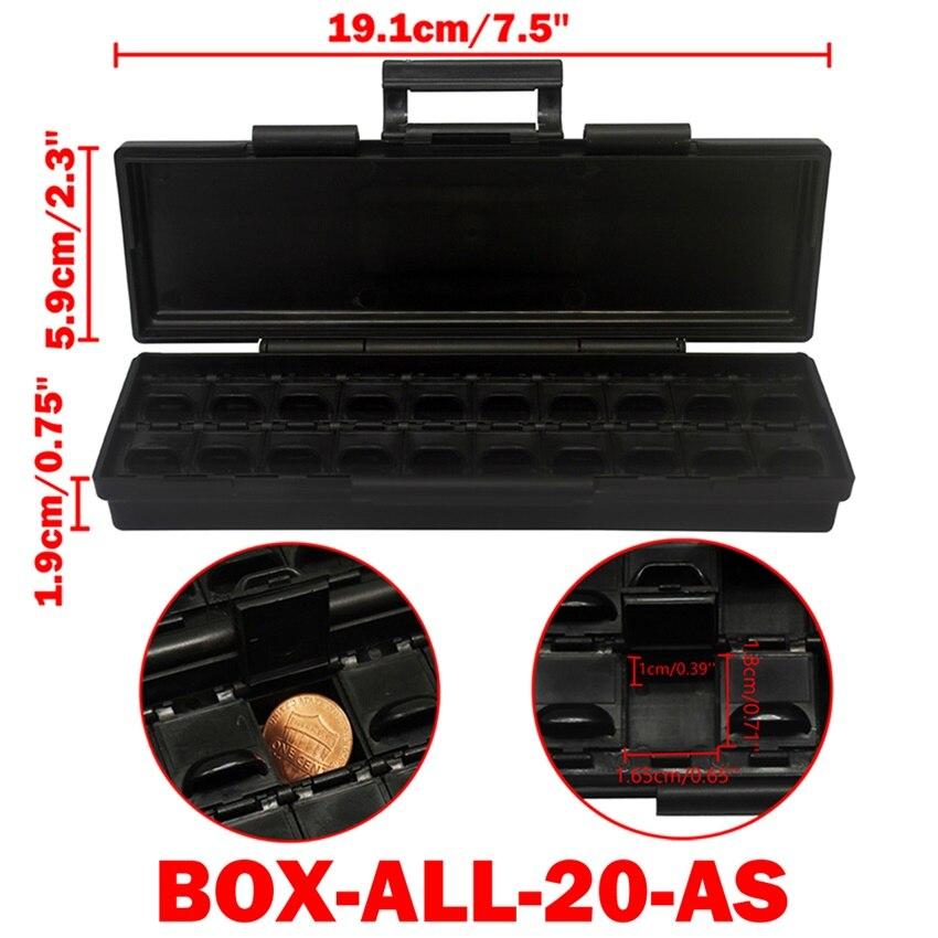 AideTek ESD Safe SMD хранилище IC Box Bins анти-статика SMT Органайзер транзисторный ящик для хранения электроники и органайзеры BOXALLAS - Цвет: BOXALL20AS