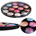 Round Shaped Baked Eyeshadow Make Up palette For Beauty Cosmetic 14 Color Shimmer Eyeshadow Pigment Mineral Makeup Set Kit