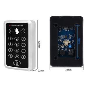 Image 4 - Waterproof RFID Access Control Keypad Outdoor Rainproof Cover 125KHz EM Card Reader 10pcs Keyfobs For Door Access Control System