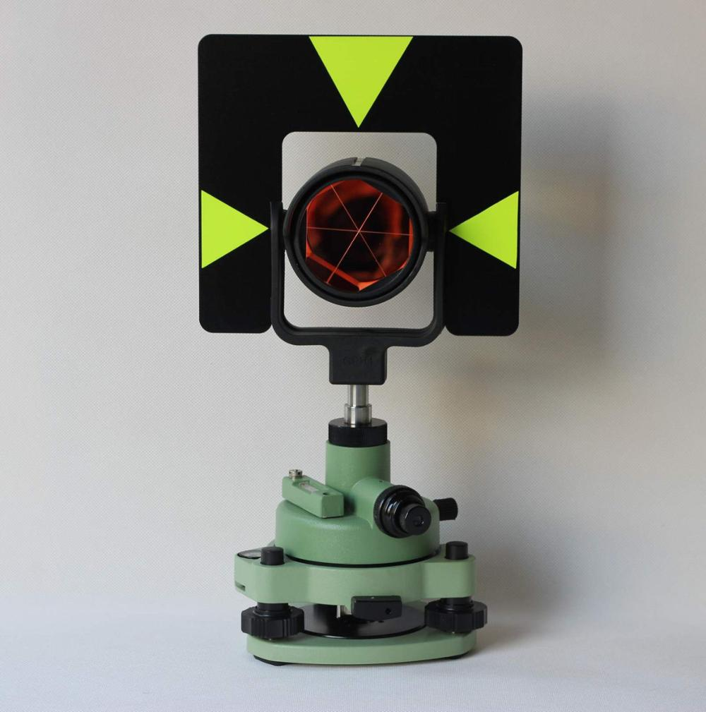 NEW Metal GREEN SINGOLO PRISM TRIBRACH SET SISTEMA PER LA STAZIONE TOTALE SURVEYING