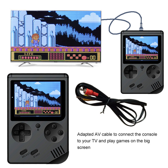 AV Port MINI Video Game Console 3.0 inches Portable Handheld Game Player Built-in 168 Games Video Games Best Gift For Kids 3