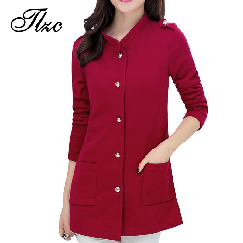 Belt Decorate Lady Slim Jackets Plus Size L-4XL Korean Trendy Big Pockets Design Single Breasted Charm Woman Fashion Coat