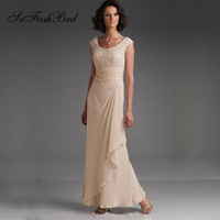 Elegant O Neck With Lace Appliques A Line Natural Waist Plus Size Mother Of the Bride Dress For Wedding Party for Women
