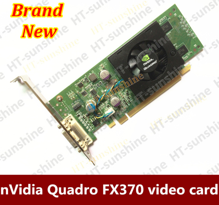 100% Original Quadro FX370 LP 256M PCI-E DMS 59 Professional Graphic Video Card Warranty 1years      Free shipping original high quality nvidia quadro fx370 pci e with dms 59 cable fx 370 3d griaphic card 1year warranty