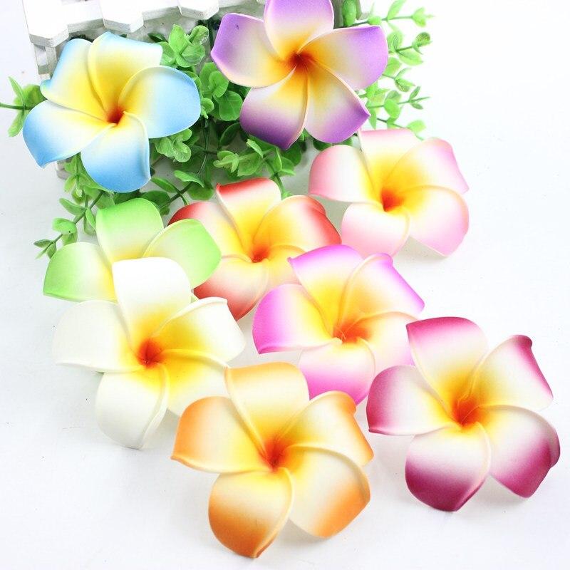 Heart in Hawaii Beaded Plumeria Flower Brooch Medium 22 Color Choices