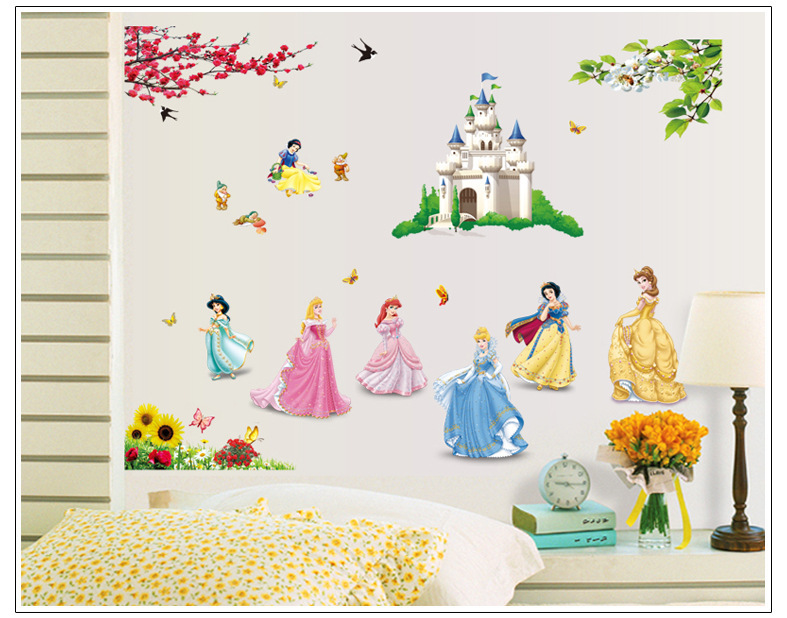 Backdrop Decoration Wall Art Stickers For Kids Rooms Fairy Snow ...