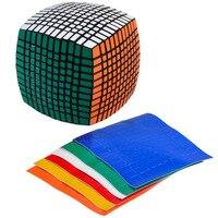 Чжишен 115 мм 11*11*11 хлеб Magic Cube Скорость Головоломка Куб Обучающие Игрушечные лошадки подарки с запасными Наклейки