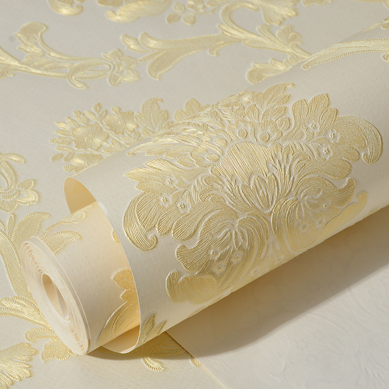 beibehang papel de parede 3D European non-woven wallpaper for walls 3 d Damascus wall paper roll bedroom living room backdrop beibehang embossed damascus non woven wall paper roll modern designer papel de parede 3d wall covering wallpaper for living room