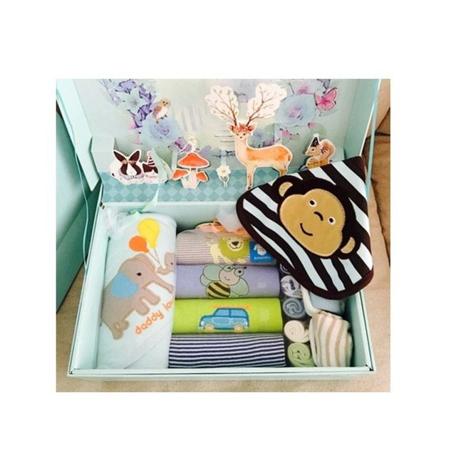 14 Pcs Baby Summer Girl Clothes Gift Box Set Baby Products Newborn