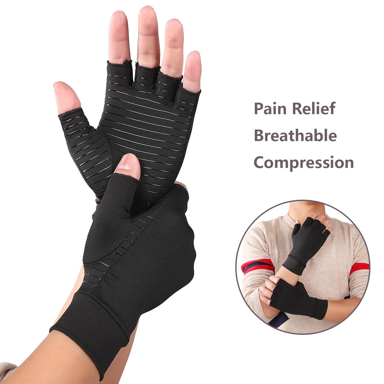 Fingerless Women Gloves Men Arthritis Gloves Cotton Therapy Compression Gloves Circulation Grip Hand Arthritis Joint Pain Relief