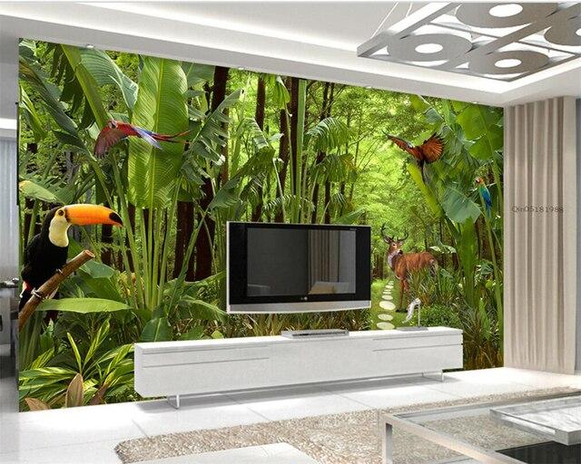 Beibehang 3D Wallpaper Grüne Tropischen Regenwald Anlage ...