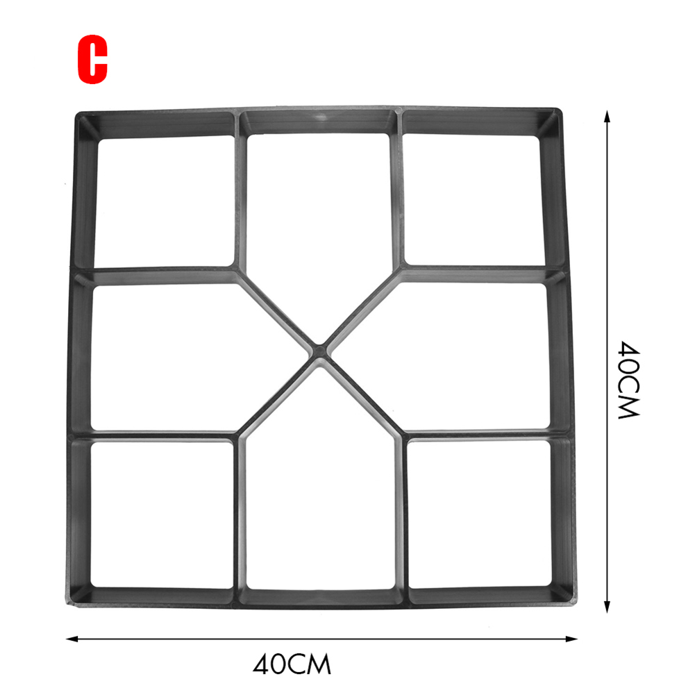 2020 Hot Garden DIY Plastic Path Maker Pavement Model Concrete Stepping Stone Cement Mould Brick FQ-ing