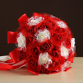 Ramo de la boda 2017 Blanco Artificial Flores Color de Rosa, tiro, Ramos de Novia Flor de La mano