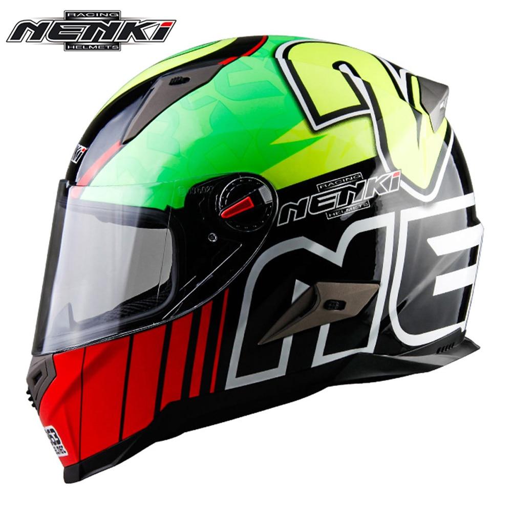 NENKI Motorcycle Helmet Men Women Motorbike Full Face Helmet Racing Street Moto Casco Touring Chopper Scooter Cruiser Helmet ECE