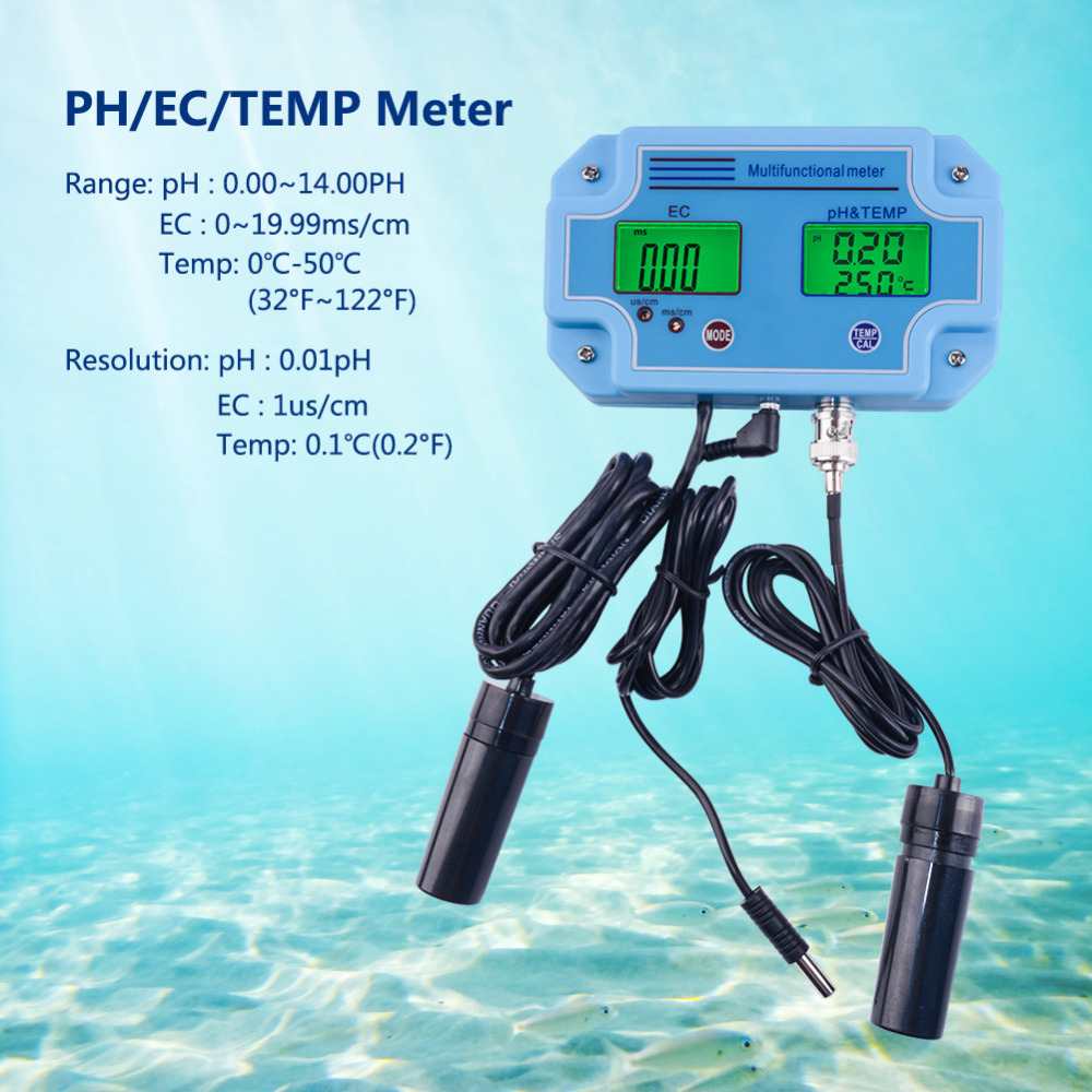 Portable 3 In 1 Water Tester PH 2981 EC PH Temperature Water Quality Detection Tool Multi