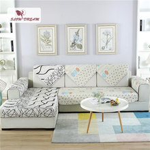 Slowdream Positive and Negative Sofa Cover Nordic 3/9pcs Set Jacquard Fabric Luxury Decor Living Room Home Textiles Double Three(China)