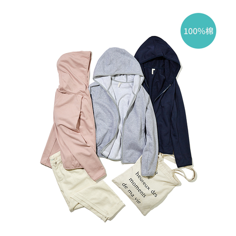 INMAN 2019 Autumn New Arrival Cotton Hoodie Casual All Matched Sport Fashion Women Jacket Karachi