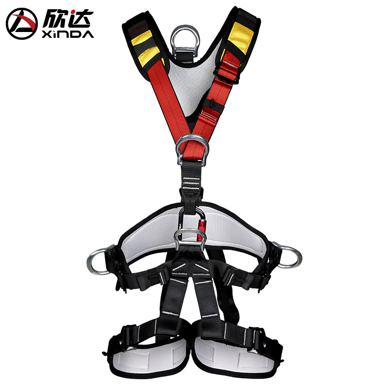 XINDA Outdoor Rock Climbing Rappelling Mountaineering accessories Body Safety Harness Wearing Seat Belt Sitting Bust Protection hot sale safety body harness outdoor mountaineering rock climbing harness protect waist seat belt outside multi tools