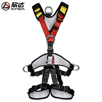 XINDA Outdoor Rock Climbing Rappelling Mountaineering accessories Body Safety Harness Wearing Seat Belt Sitting Bust Protection mool heng shuo rock climbing safety harness belt tree carving arborist rappelling fall arrest