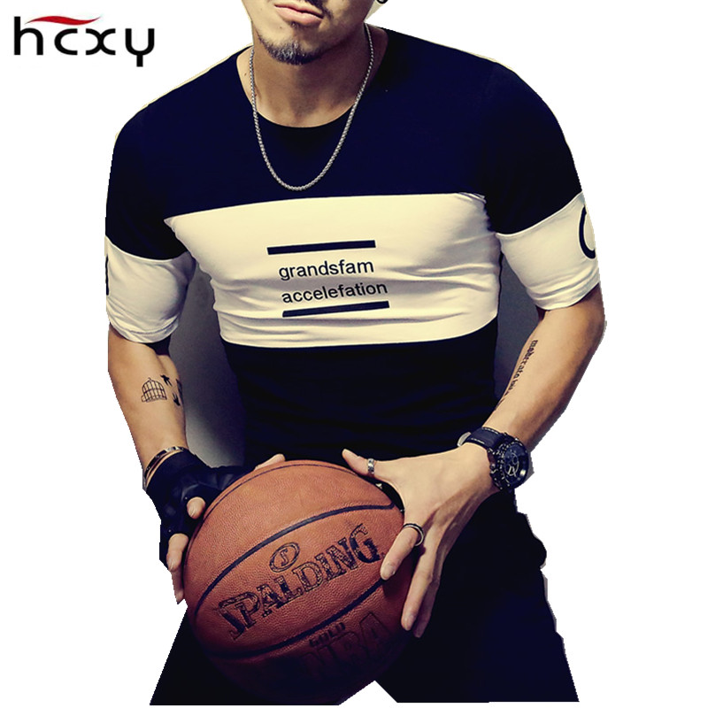 2017 new fashion men Casual T shirt men short sleeve T shirt for male luxury brand clothes Slim Stretch mens tops tee