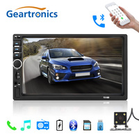 2018 2 Din 7'' inch LCD Touch screen car radio player multiple Languages Menu BLUETOOTH hands free Support rear view came