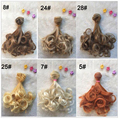 12PCS/LOT Synthetic Doll Hair DIY BJD Hair Accessories Dolls Curly Hair 15CM