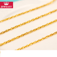 24K Pure Gold Necklace Real AU 999 Solid Gold Chain Brightly Simple Upscale Trendy Classic Party Fine Jewelry Hot Sell New 2018