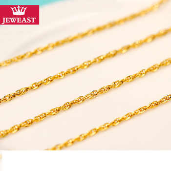 QA 24K Pure Gold Necklace Real AU 999 Solid Gold Chain Brightly Simple Upscale Trendy Classic  Fine Jewelry Hot Sell New 2019 - DISCOUNT ITEM  40% OFF All Category