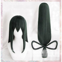My Hero Academia Baku no Hero Asui Tsuyu Dark Green Long Straight Cosplay Wigs 80cm+wig Cap