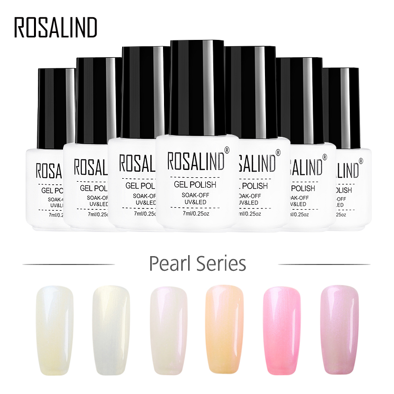 ROSALIND Gel di 1 s 7 ml Perla Del Chiodo Del Gel Smalto Gel Shimmer Semi Permanente Vernici UV LED di Lunga durata nail Polish