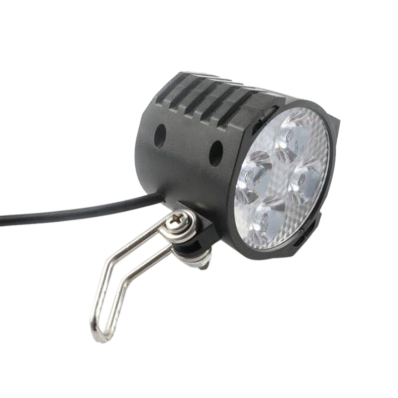 E-Bike Led Headlight 12V 24V 36V 48V 60V 72V Bicycle Light With Horn Waterproof Front Headlight